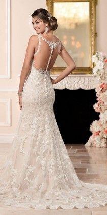 Stella York Sheath Wedding Dress with Illusion Back style 6329 b