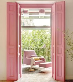 00332125 O. Puerta y contraventanas en rosa chicle _00332125 O