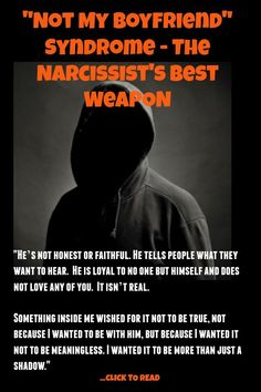 """Not My Boyfriend"" Syndrome: The Narcissist's Best Weapon is Our Own Denial - Fairy Tale Shadows Narcissist Quotes, Abuse Quotes, Relationship With A Narcissist, Broken Relationships, Relationship Quotes, Narcissistic Behavior, Narcissistic Abuse Recovery, Narcissistic Sociopath, Narcissistic Personality Disorder"