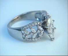 Engagement Ring 2.10ct Marquise Diamond Ring 18kt by blueriver47, $1300.00