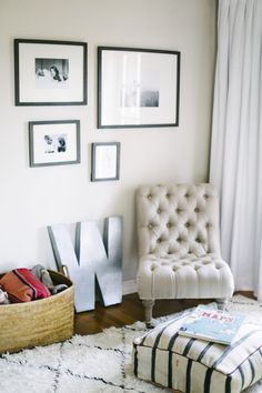 Nice and comfy tufted chair! #anthrofave