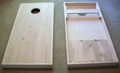 Corn Hole Boards With Bean Bag Compartment Bag by TilnicCreations, $235.00