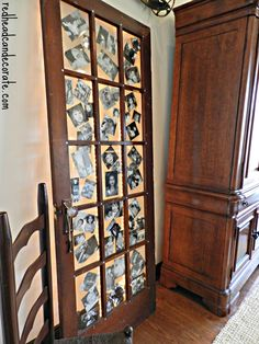 Old Door Picture Frame Ideas Repurposed Furniture, Home Furniture, Door Picture Frame, Recycled Door, Pinterest Home, Old Doors, Decoration, Home Projects, Decorating Your Home