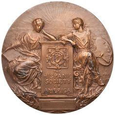 Bronze Medal of Hispanic Society of America, United States, 1906. 2011.31.24