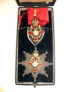 Franz Joseph Order, Commander with Star insignia; breast star, 2nd model and neck badge, in box, Vinc Mayer's Sohne, Vienna.