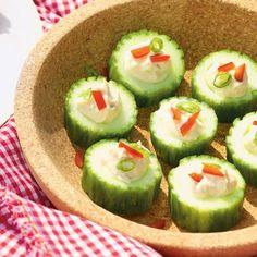 Stuffed Cucumber Cups