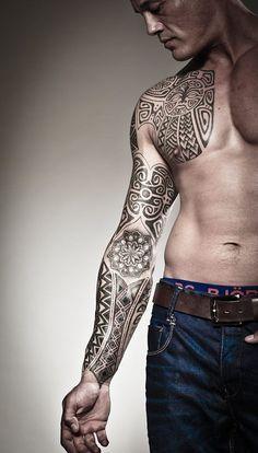 Tattoos by Peter Walrus | Meatshop Tattoo Copenhagen #polynesian #tattoo #marquesantattoosformen
