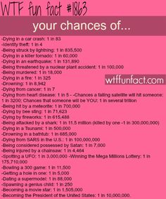 The Odds of…- WTF fun facts