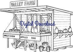 Roadside+Fruit+Vegetable+Farm+Stand+Vintage+Woodworking