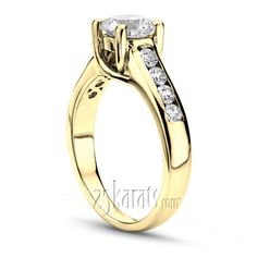 Trellis Round Cut Channel Set Diamond Bridal Ring  #engagement #rings