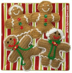 Tutotial completo para tejer estas gingerbread cookies navideñas en crochet!