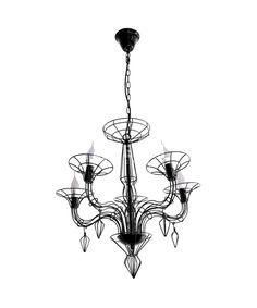 Żyrandol metalowy FLAME W-8136/5 BK - Helam Lighting