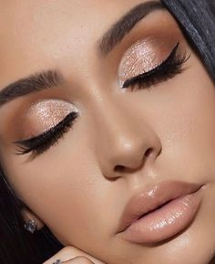 Pageant and Prom Makeup Inspiration. Find more beautiful makeup looks with Pageant Planet. Pageant and Prom Makeup Inspiration. Find more beautiful makeup looks with Pageant Planet. Nude Makeup, Brown Makeup, Nude Lip, Makeup Primer, Makeup Lips, Eye Primer, Pink Makeup, Eyebrow Makeup, 1920 Makeup