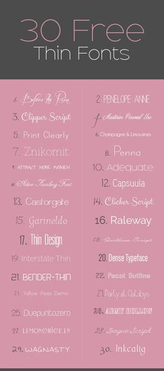 30 Free Skinny Superb Fonts for Your Minimalistic Headings. >>> Figure out even more at the picture