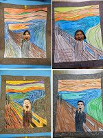 """Art Projects for Kids: Student's """"Scream"""" Art"""