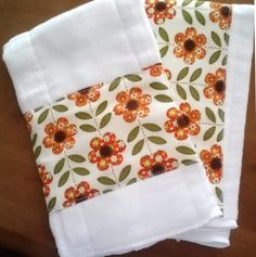 Retro Vintage Inspired Flower Cloth Diaper by MoseyRoseDesigns, $14.00