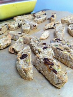Christmas Cranberry Pistachio Biscotti (gluten-free and vegan)