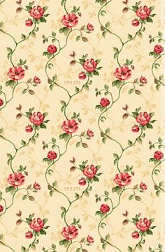Red Floral Vines from Totallylayouts