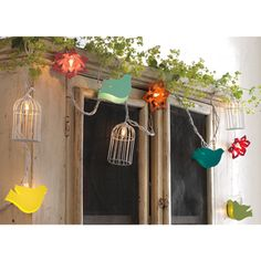 Song bird string lights, pretty for outdoor balcony or patio brunch. I've got to get this!!!
