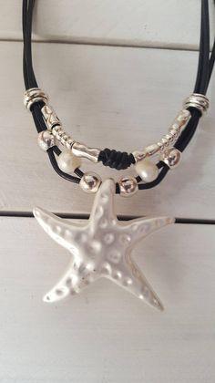 estrella colgante collar multi playa perlas bohemio mujer