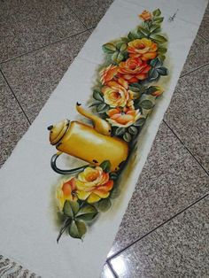 Fabric Painting, Painting Techniques, Fresh Rolls, Floor Rugs, Table Runners, Clip Art, Painted Rug, Painting Carpet, Angel Paintings