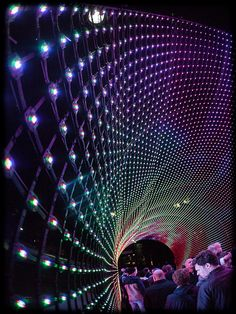 Vivid Sydney Installation Hundreds and Thousands Facade Lighting, Lighting Design, Instalation Art, Displays, All Of The Lights, Stage Design, Landscape Lighting, Interactive Design, Light Art