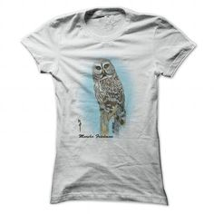 This is an awesome to wear for your family and friend who love animal:  Great Grey Owl - Original Art by Marsha Friedman Tee Shirts T-Shirts