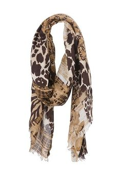 Mixed Animal Print Scarf (original price, $14) available at #Maurices