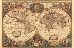 Ravensburger - Puzzle - 5000 Pièces Mappemonde antique