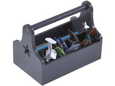 Kids Concept tool box grey. Smart tool box with compartments for pens and other…