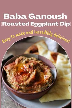 This Baba Ganoush recipe is made with eggplant and a perfect blend of lemon juice, tahini, olive oil, garlic, and spices. Similar to hummus, this small batch roasted eggplant dip is easy to make and incredibly delicious. Roasted Eggplant Dip, Roast Eggplant, Baba Ganoush, Mashed Potatoes, Dips, Ethnic Recipes, Easy, Food, Whipped Potatoes