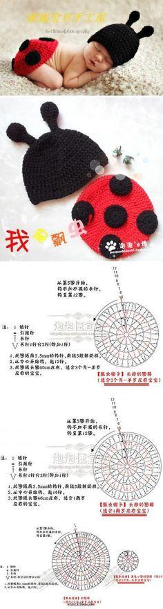 Newborn Crochet Patterns, Crochet Baby Cocoon, Baby Hat Patterns, Crochet Cap, Amigurumi Patterns, Diy Crochet, Crochet Crafts, Crochet Hooks, Crochet Projects