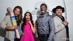 Black Sails actors Zach McGowan, Jessica Parker Kennedy, Hakeem Kae-Kazim and Mark Ryan have some fun at THR's Comic-Con lounge