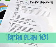 Birth Plan 101 #birthplan #tidewaterparent #pregnancy