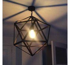 Home :: Industriële hanglamp :: Draadlampen :: Zwarte metalen draadlamp Cubo Ø 45 cm - Decor, Lamp, Ceiling Lights, Pendant Lamp, Wall Lamp, Floor Lamp, Light, Pendant Lighting, Tv Wall Decor
