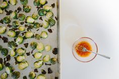Roasted Brussel Sprouts with Sweet Chili