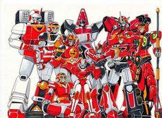 Red Sentai Zords
