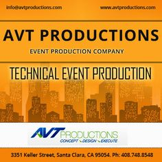 Based in the heart of Silicon Valley, AVT Productions is a full-service technical #event #production company with over 25 years of experience.