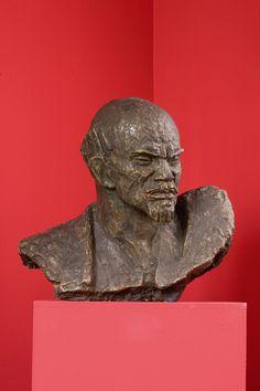 xawery dunikowski, popiersie lenina, 1949, gips patynowany