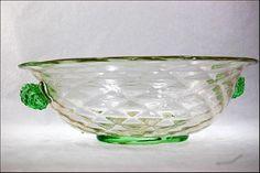 Old Salviati Venetian Art Glass Green Gold by SummitAntiqueCup