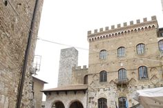 San Gimignano is a small town in the the Tuscan hilltops.