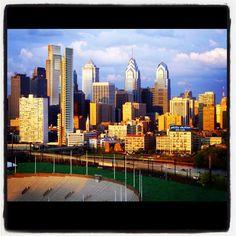 #philadelphia #skyline #america #sunset