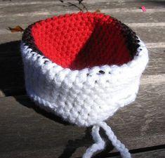 Ravelry: Poke Bag by Sarah Kesler Pokemon Beanie, Pokemon Bag, Crochet Pouch, Crochet Hats, Round Bag, Knit Patterns, Sewing Crafts, Purses, Knitting