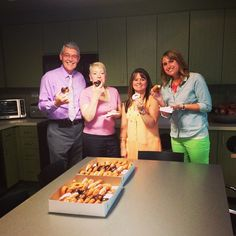 Some of our employees enjoying National Donut Day!