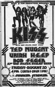 Kiss 1976 Anaheim Stadium