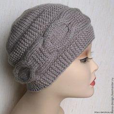 gorras tejidas con trenzas - Buscar con Google Crochet Baby Bonnet, Crochet Socks, Knit Crochet, Knitting Patterns, Crochet Patterns, Wooly Hats, Knitted Beret, Hat Hairstyles, Crochet Purses