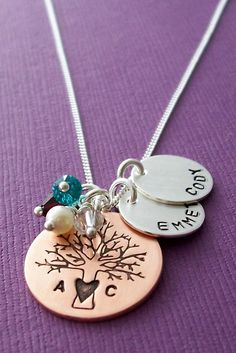 Personalized Necklace Family Tree Jewelry by EclecticWendyDesigns, $74.00 Want it!!