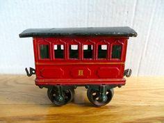 German all-original 1-gauge tin passenger coach by Bing