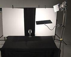 lighting glass with a wide line setup