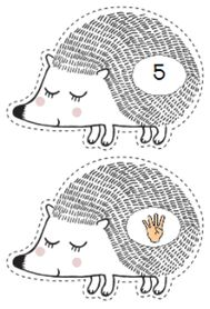 Ateliers numération 0-10 Color Activities, Math Activities, Petite Section, Math Numbers, Racoon, School Themes, Learning Disabilities, Learning Colors, Hedgehog